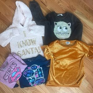 Other - Girls long sleeve shirts sweaters size 6